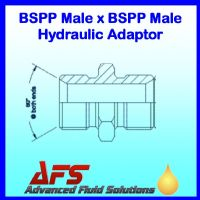 1 BSPP X 1/2 BSPP Male Unequal 60° Cone Straight Hydraulic Adaptor